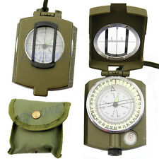 Professional Geology Military Army Outdoor Use Pocket Prismatic Compass + Pouch