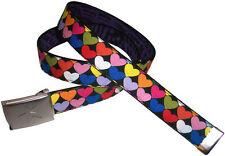 Hearts BELT Valentine's Day Gift Buckle Love Rainbow Hot Topic Emo New Pink Red
