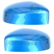 FORD FOCUS LEFT RIGHT SIDE DOOR WING MIRROR COVERS CAPS CASE PAINTED VISION BLUE