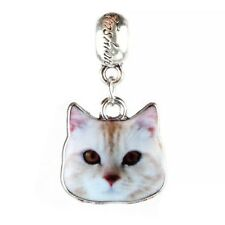 Quirky Cat Dangle Charm - Silver Tone - Suits Pandora Bracelet - Kitten