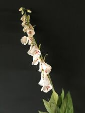 Tall Faux Silk Foxglove. 110cm White Artificial Wild Flowers Cream Fox Gloves
