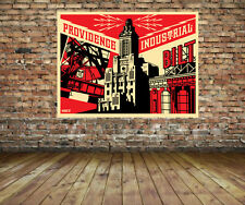 Providence Industrial RED Print - Obey Giant - Shepard Fairey Canvas Print