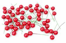 50x Artificial Red 15mm Christmas Holly Berries Berry [BUY 2 GET 1 FREE]