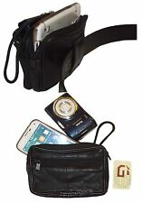 Camera bag, Large Cell phone case, belt bag, Leather belt bag / Camera case, BN