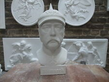 El príncipe Otto von Bismarck canciller alemán yeso busto nuevo hermosa decoración