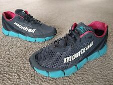 Womens Montrail 7 M Gray Turquoise Running Shoes Fluidfoam
