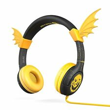 Volume Limiting Kids Headphones for School BoostCare Wing Wired Bat Ear Headsets
