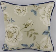 Shabby Chic Floral Sanderson Wedgewood Azul Rosalie Rose Almohada Cojín Cubierta
