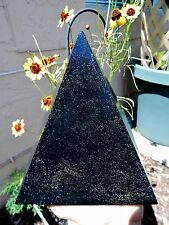 XL Orgone Pyramid 4.9LB Black Sun Quartz Crystals Orgonite