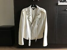 Theory White Jacket in Ice Leather Women M