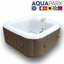 INFLATABLE SQUARE 2/4 PERSON JACUZZI WHIRLPOOL SPA HOT TUB (600 Litre) AP600SPA