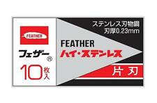 JAPANESE FEATHER High stainless steel Single Edged Razor blade 10 pcs from JAPAN
