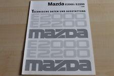 117982) Mazda E 2000 E 2200 - technische Daten & Ausstattungen - Prospekt 06/199