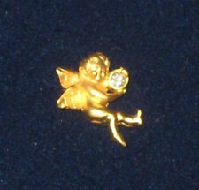 ANGEL Pin Crystal Princess House Luminess NEW in Box Goldtone Cherub