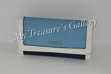 NEW Guess Tambako SLG Slim Small Wallet Checkbook Clutch Blue Multi NWT