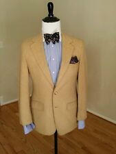 Woodward Lothrop 100% Cashmere Tan sportcoat size 38R peak stitches