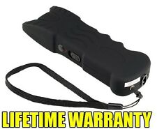Black 85 Million Volt Self Defense Stun Gun w/ LED Light + Free taser holster