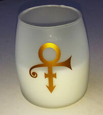 PRINCE CANDLE Frosted GLASS Large White NPG STORE London rare