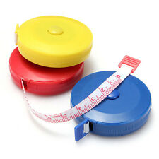 1.5M Sewing Tailor Craft Soft Flat Automatic Tape Body Measure Ruler With Covers