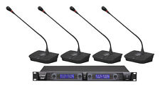 NEW PylePro Professional Rack Mount 4 Channel Desktop UHF Selectable Frequency W