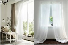 """IKEA LILL Curtains Sheer White 2 Panels 110"""" x 98"""" Each Bed Canopy Room Divider"""