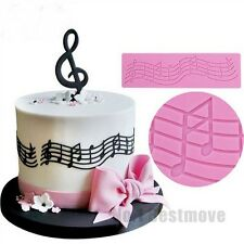Music Note Silicone Lace Mat Fondant Molds Cake Decorating Tools