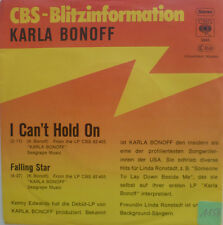 "7"" 1977 KARLA BONOFF & LINDA RONSTADT : I Can´t Hold On"