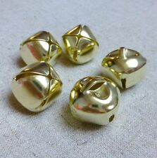 10pcs - Big 20 mm light gold jingle bells Charm Christmas Pendant