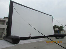 REDUCED!!!!!!     65 X37 ft Inflatable Movie Screen w/ Front & Rear Projection