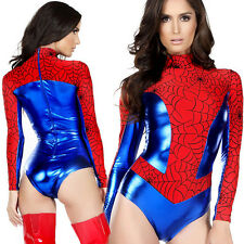 Women Halloween Cosplay Sexy Hero Costume Spider-man Long Sleeve Fancy Dress