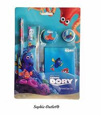Finding Dory Kids 5 Pcs STATIONERY SET Birthday Toy School Pencil NOTEPAD Gift