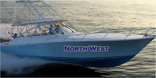Large BOAT NAME 2 Color Boat Decal Stickers Vinyl Decal Boat Stickers 2pc 10x60