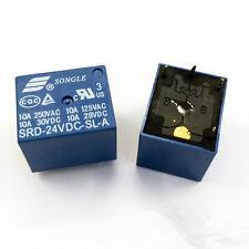 50pcs 4pins 24V SRD-24VDC-SL-A 10A 250VAC SONGLE Relay
