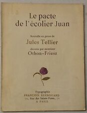 OTHON-FRIESZ EO numérotée  1920 Jules Tellier : Le pacte de l'écolier Juan