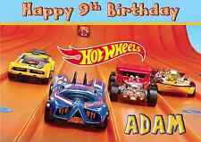 Hot Wheels personalised A5 birthday card son brother nephew grandson name age