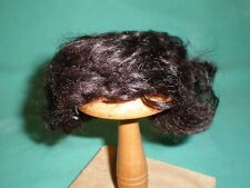 "doll wig/ mohair black/brown 7"" to 8""/pageboy haircut curled"