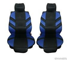 UNIVERSAL SPORT FRONT BLUE COMFORT PADDED SEAT COVERS CAR VAN BUS TAXI MOTORHOME