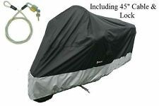Motorcycle Covers Fit Large Cruisers, Full Dress Tourer,Chopper 1500cc & Up. XXL