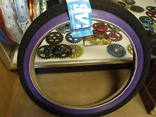 "DUO SVS 20"" X  2.25"" BLACK/PURPLEWALL WIREBEAD BMX BICYCLE TIRE"