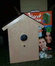 Birdhouse Window with Clear Panel Suction Cups for Hanging