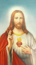25 Sacred Heart of Jesus Holy Pictures with Prayer-Blessed by Pope upon request