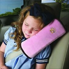 Kid Car Auto Safety Seat Belt Children Shoulder Pad Cushion Support Pillow Pink