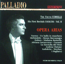 CD FRANCO CORELLI  - opera arias, the young Corelli, his first recitals vol. 2