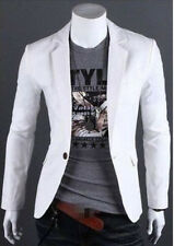 New Stylish Men's Casual Slim Fit One Button Suit Blazer Coat Jacket Top L