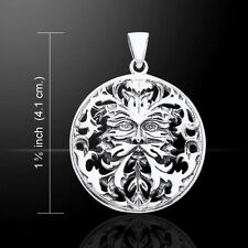 Oberon Zell Green Man .925 Sterling Silver Pendant Peter Stone