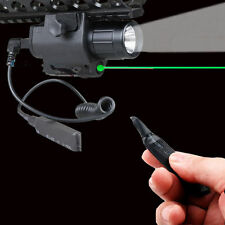 Tactical Green Laser Sight CREE LED Flash Light Combo + Rail Mount Remote Switch