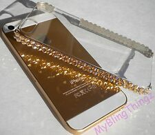 For iPhone 5 5S GOLD Crystals Bling Hard Case Cover Bumper w/ SWAROVSKI ELEMENTS