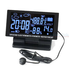 12v led Digital Clock Car F/C Thermometer Hygrometer Voltage Weather Foreca
