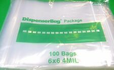 "ZIPLOCK BAGS 6 x 6 RECLOSABLE THICK 4 Mil CLEAR PLASTIC BAG 1000 ZipLock 6""x6"""
