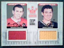 MAURICE RICHARD / MARIO LEMIEUX  AUTHENTIC PIECES OF GAME-USED JERSEY /9  SP